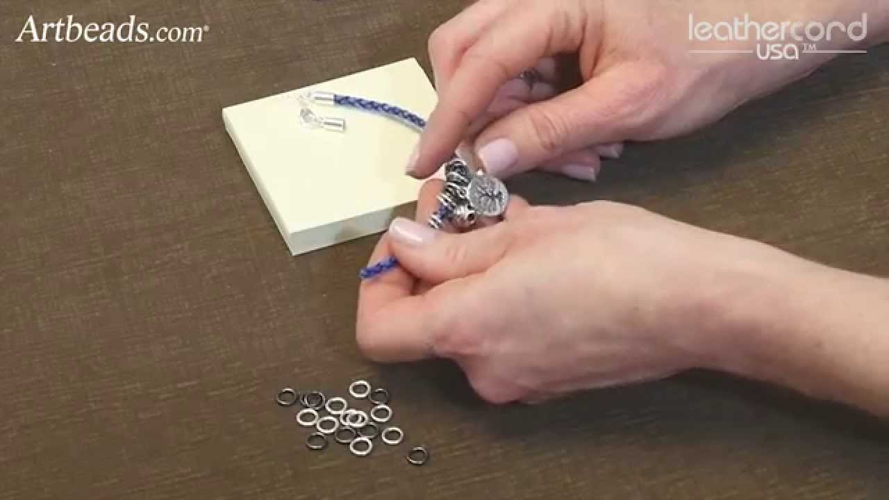Artbeads Mini Tutorial - Bolo Leather Charm Bracelet with Katie Hacker