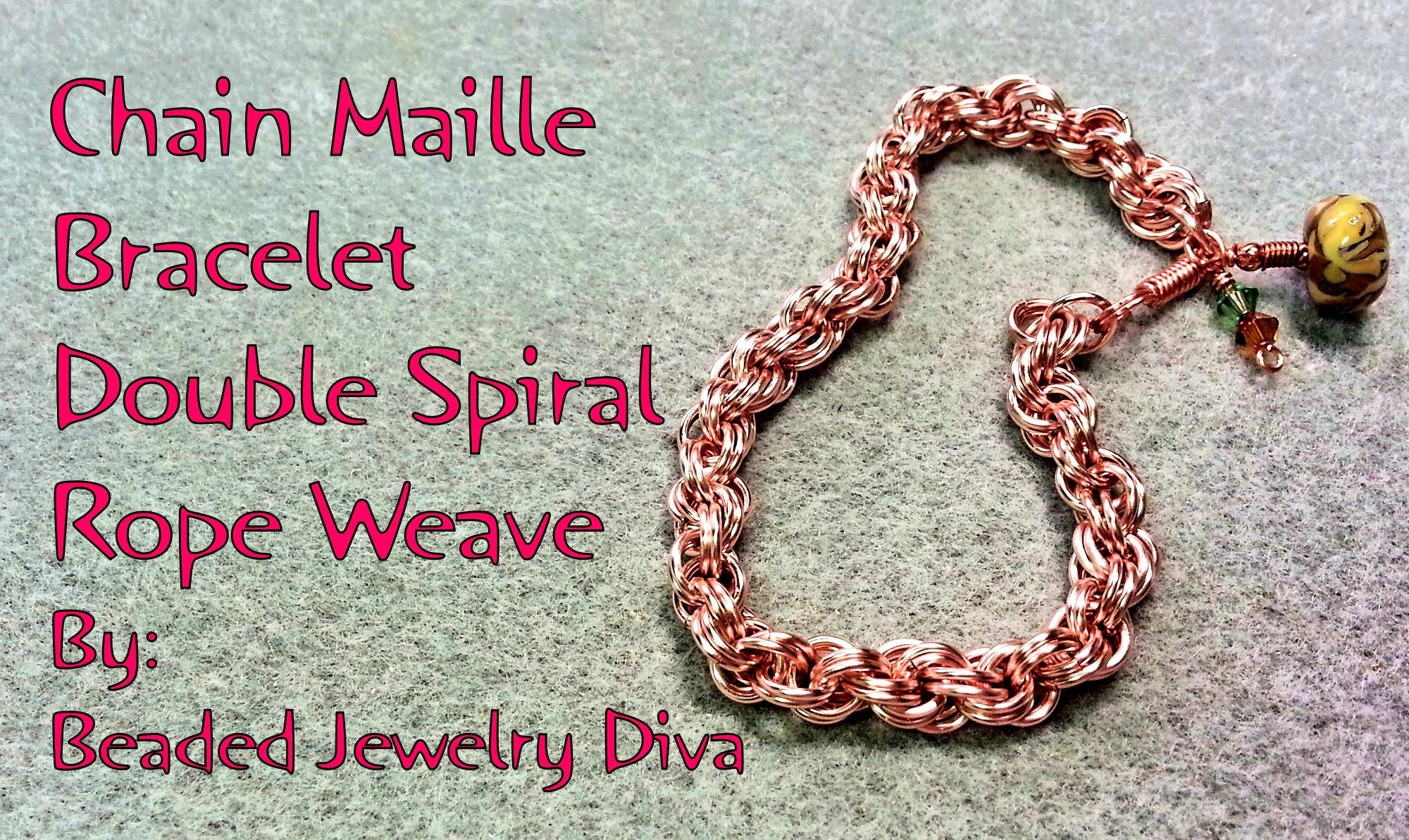 Chain Maille Bracelet Double Spiral Rope Weave - Chain Maille Tutorial