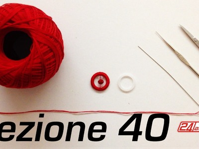 Chiacchierino Ad Ago 40˚ Lezione Come Rivestire Un Cerchio Tutorial Needle Tatting Cover A Ring