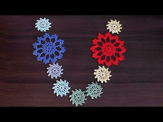 Crochet motif. Tutorial. Small necklace motif. Part 1.