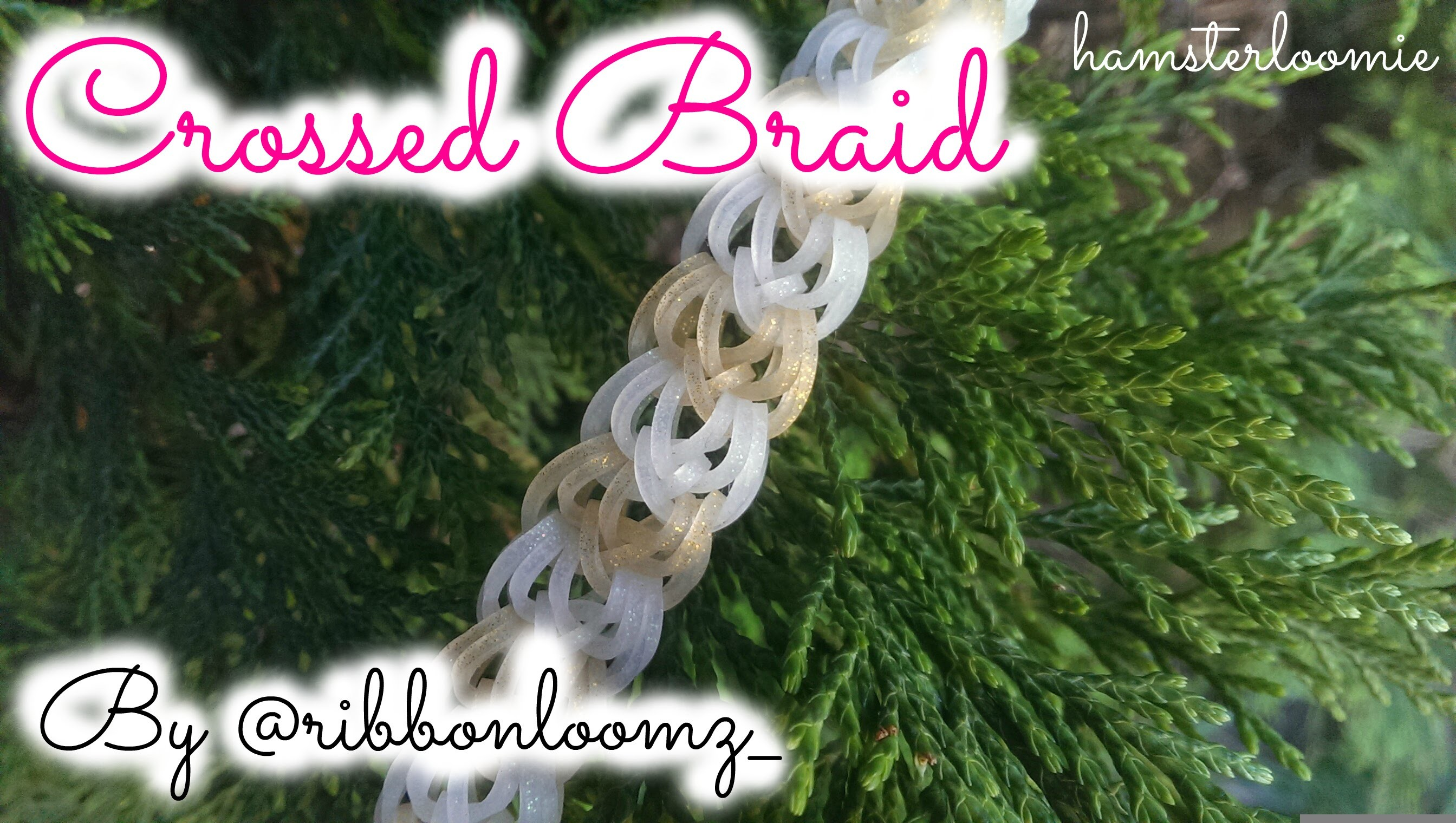 CROSSED BRAID bracelet tutorial || hook