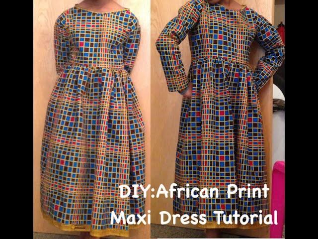 DIY: African Print Maxi Dress with Zipper.(Ankara)