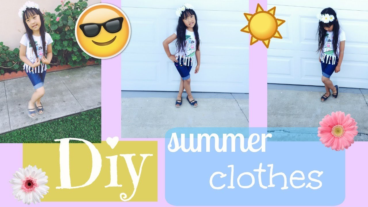 DIY  Clothes For  Summer  T-shirt and Short Perfect Outfit  ♡