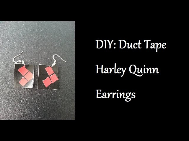 DIY: Duct Tape Harley Quinn Earrings