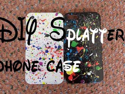 DIY Splattered Phone Case