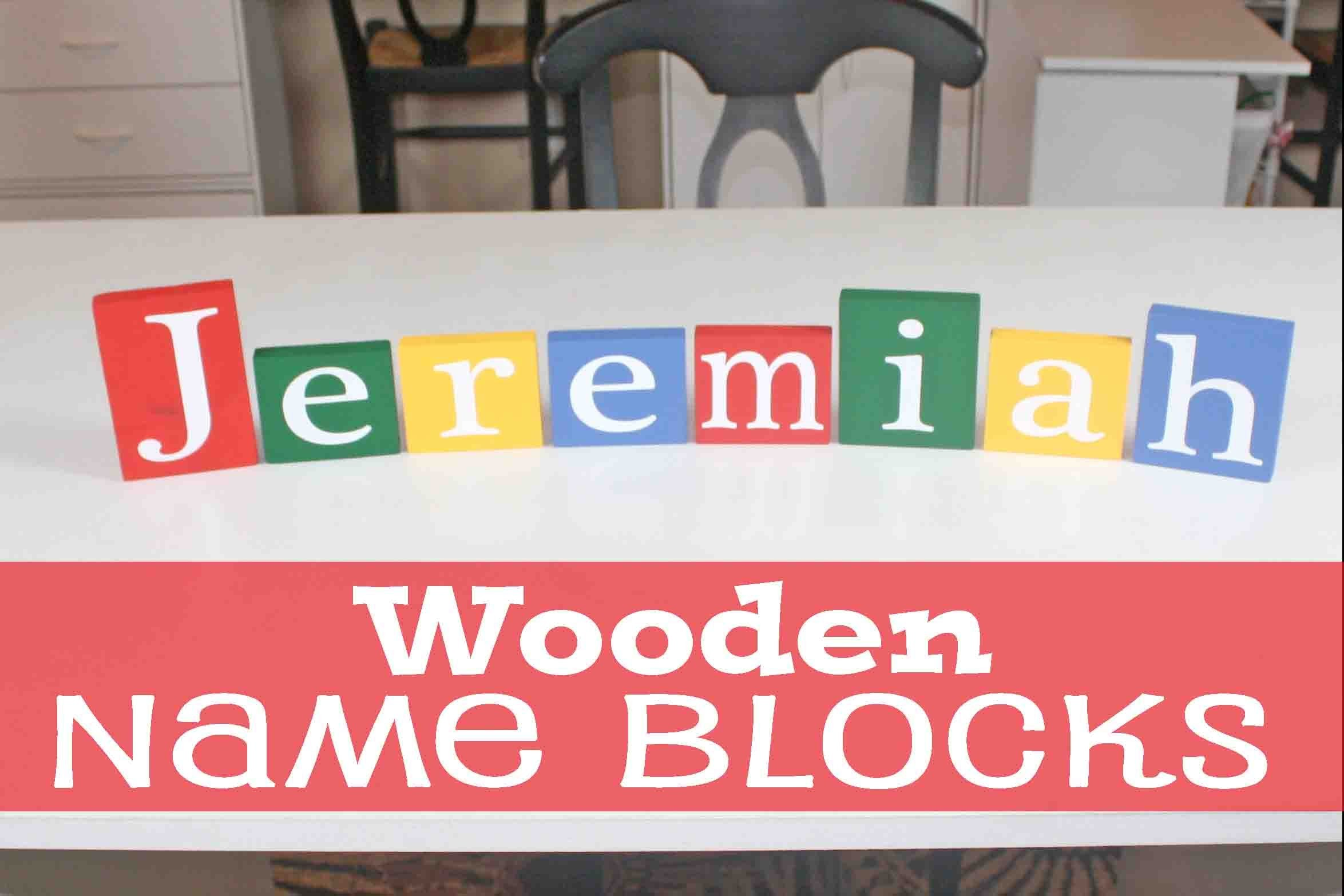 DIY Wooden Name Blocks | #67