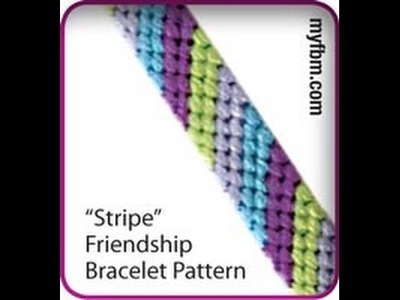 Friendship Bracelet Tutorial Stripe Pattern