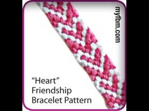 Friendship Bracelet Tutorial Heart Pattern