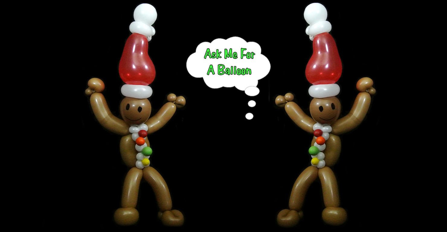 Gingerbread Man Balloon Twisting Tutorial