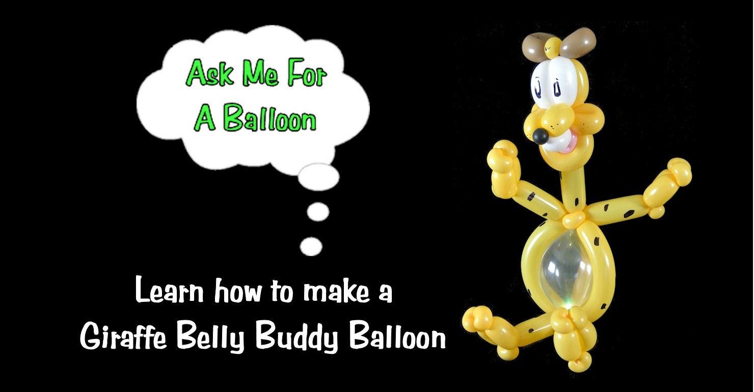 Giraffe Belly Buddy Balloon Animal Tutorial