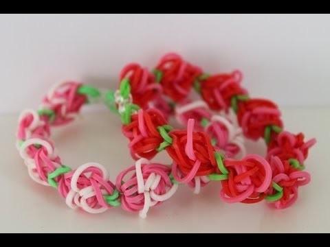Great a easy Rose Garden Loom Tutorial
