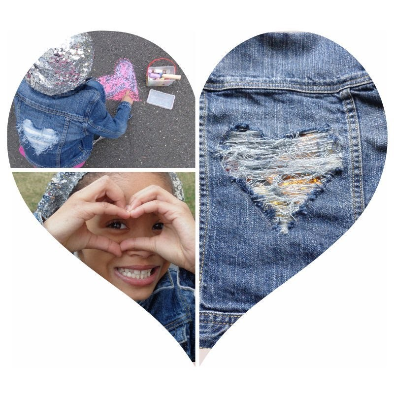 Great Valentines Day Project! Upcycle Jean jacket