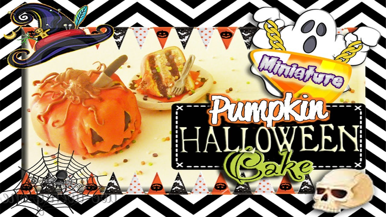 Halloween Pumpkin Cake Tutorial