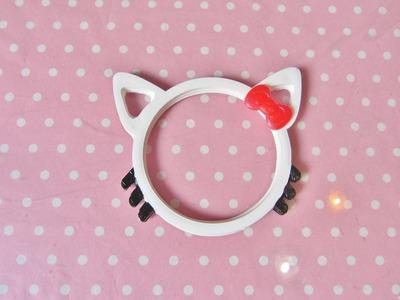 Hello Kitty Bangle resin tutorial - bracciale di Hello Kitty