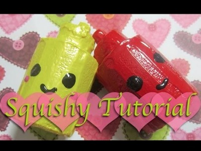 Home-made Ketchup and Mustard Squishy Tutorial