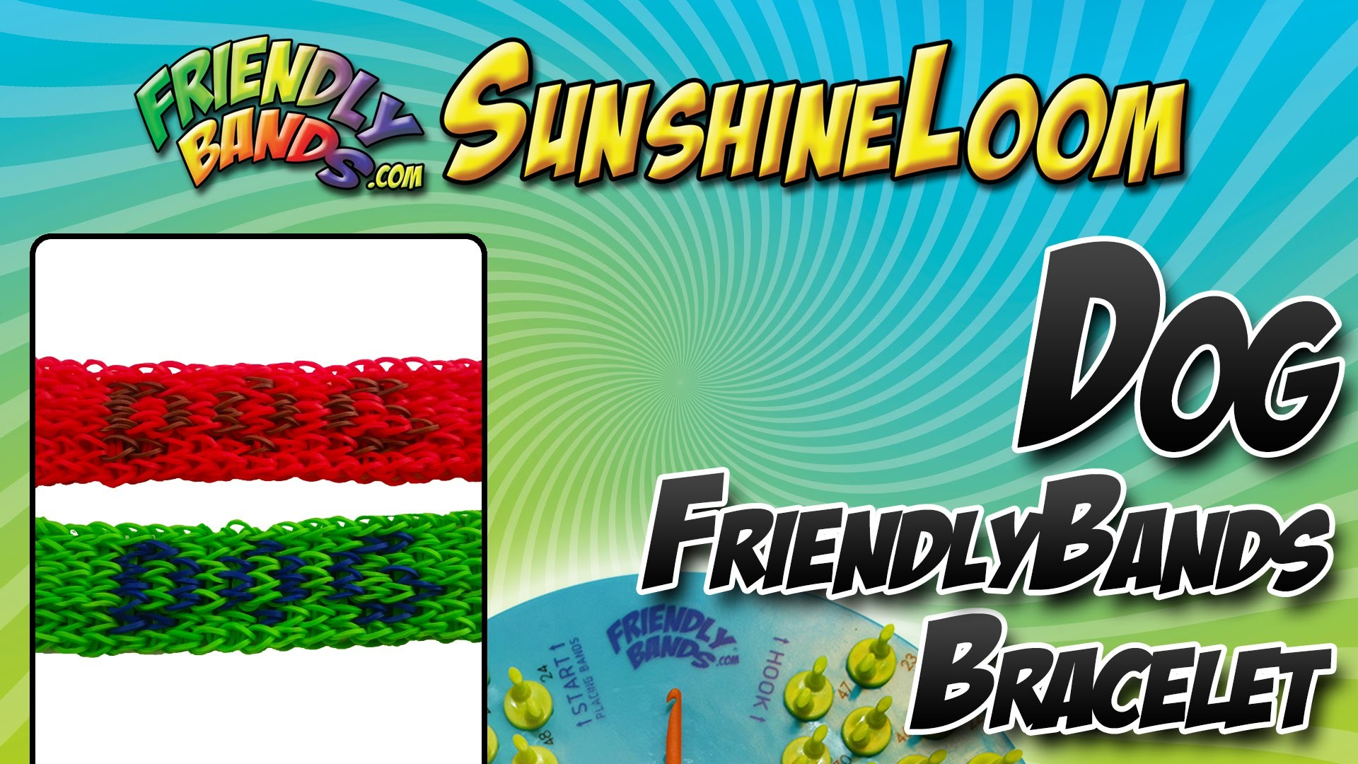 How to Make a FriendlyBand SunshineLoom - Dog HeptaBand Tutorial