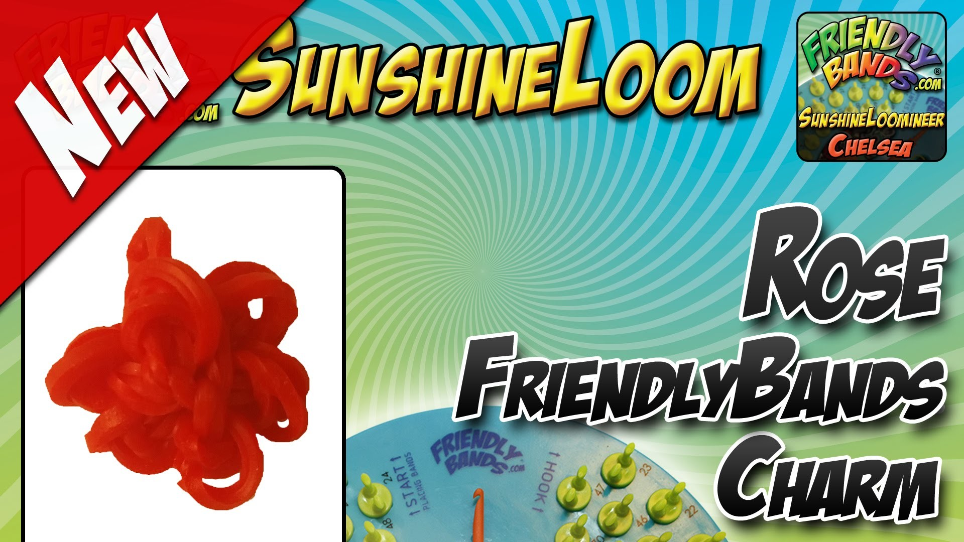 How to Make a FriendlyBands SunshineLoom - Rose Charm Tutorial