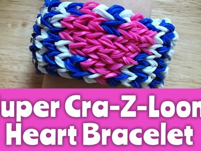How to make a Super Cra-Z-Loom Heart Bracelet: Loom Tutorial
