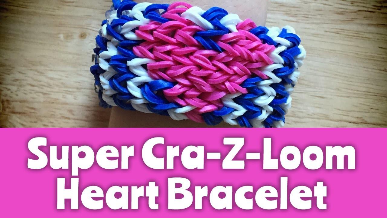 How to make a Super Cra-Z-Loom Heart Bracelet: Loom Tutorial