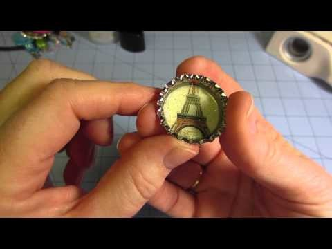 How to make ► Bottle Cap Charms ☆ Handicraft Tutorial