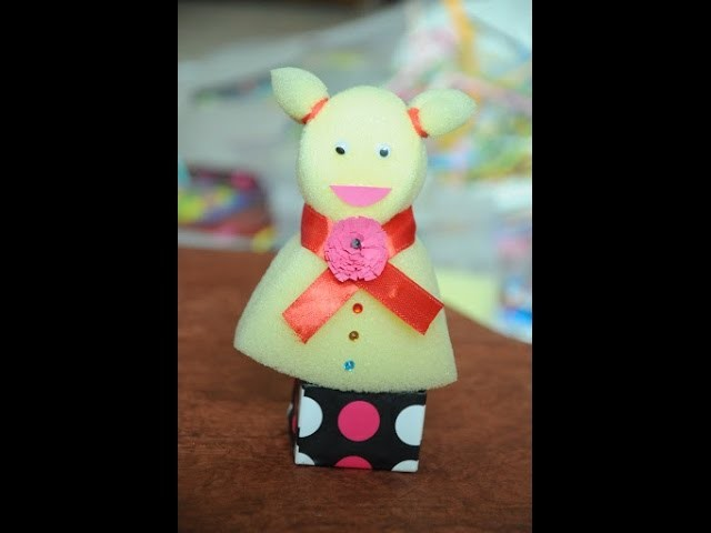 How to make cute Sponge Doll - DIY Sponge Doll