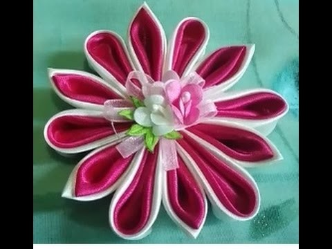 Jewelry 1: brooch amazing, tutorial to make a flower pin using satin #DIY @azhira