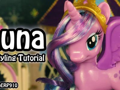 My Little Pony:  Princess Luna Hair Styling Tutorial MLP