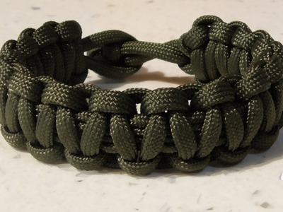One Strand Cobra Weave Paracord Survival Bracelet No Buckle Tutorial