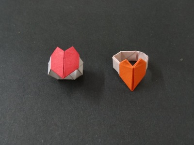 Origami Heart Tutorial : How to fold an Origami Heart Ring