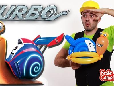 Palloncino Lumaca Balloon film Turbo - Turbo Snail Balloon - Tutorial 74 - Feste Compleanni
