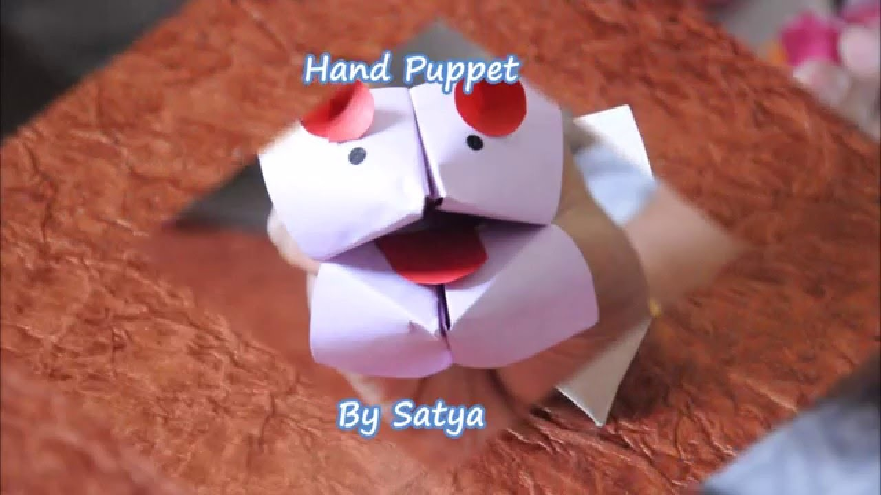 Paper Made Hand puppet - using Four cups  -  DIY Hand Puppet Four cups
