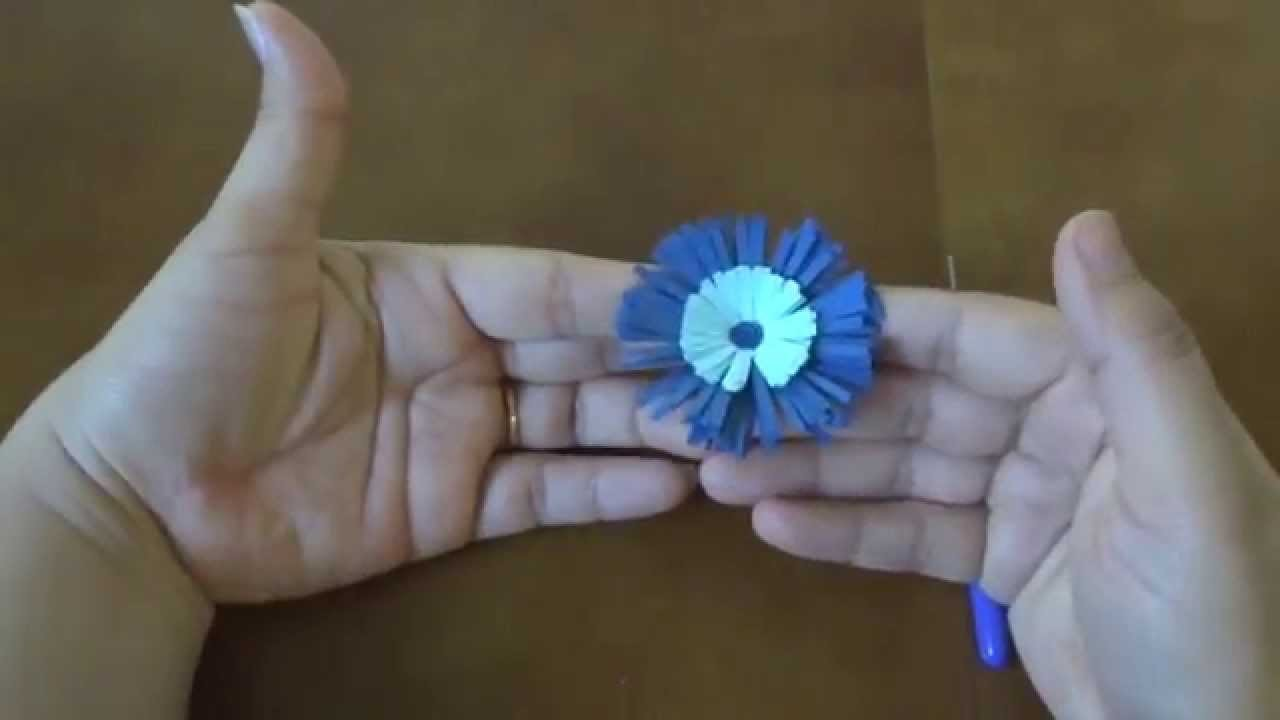 Quilling fringed Flower Tutorial