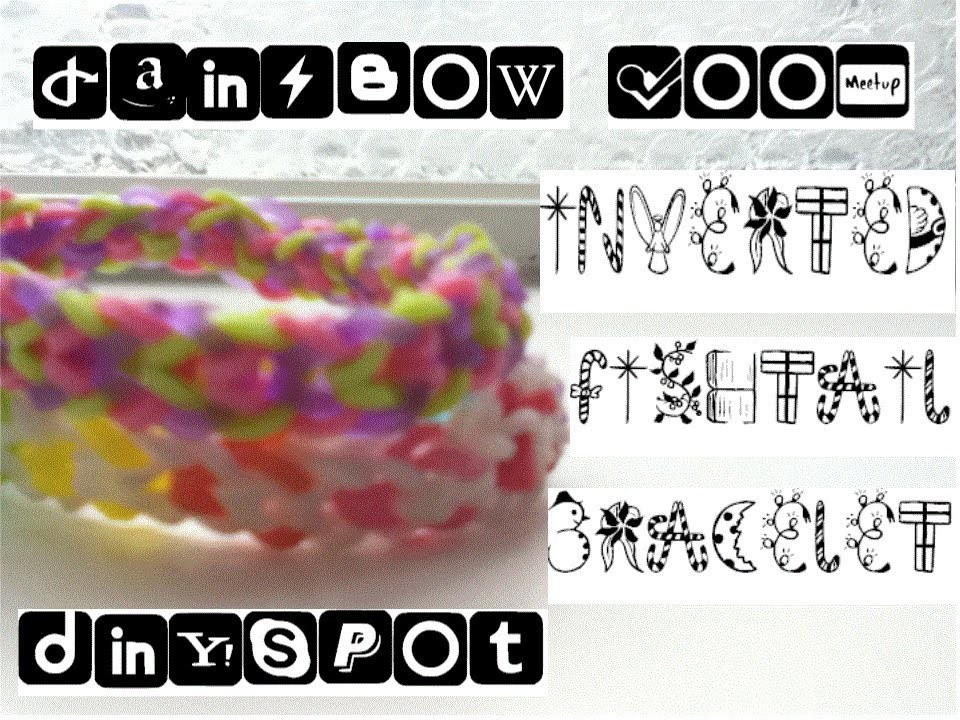Rainbow Loom: Inverted Fishtail Bracelet Tutorial