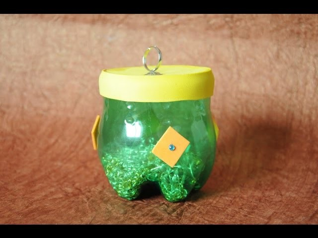 Recycled Plastic Bottle into usable Plastic Container - DIY