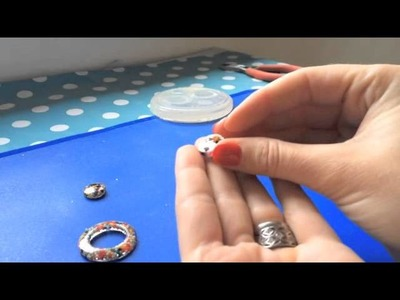 Resin Earrings Tutorial. How to make Resin Earrings Jewellery. how to use a silicone mould