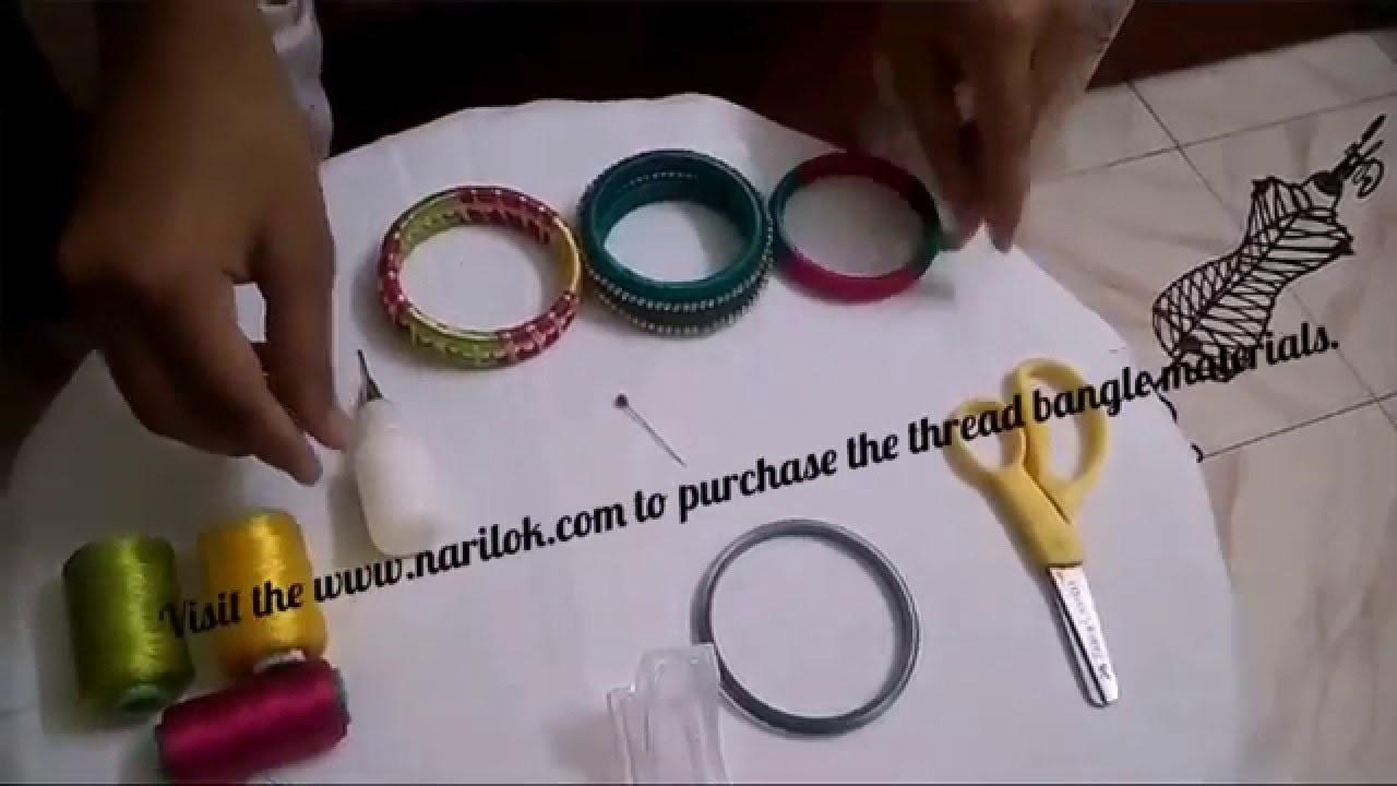 Silk thread bangle making tutorial.