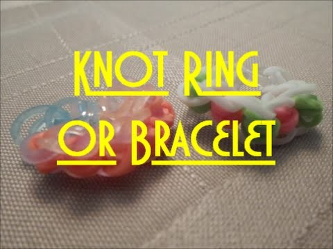 Simple Knot Ring or Bracelet Tutorial (without loom)