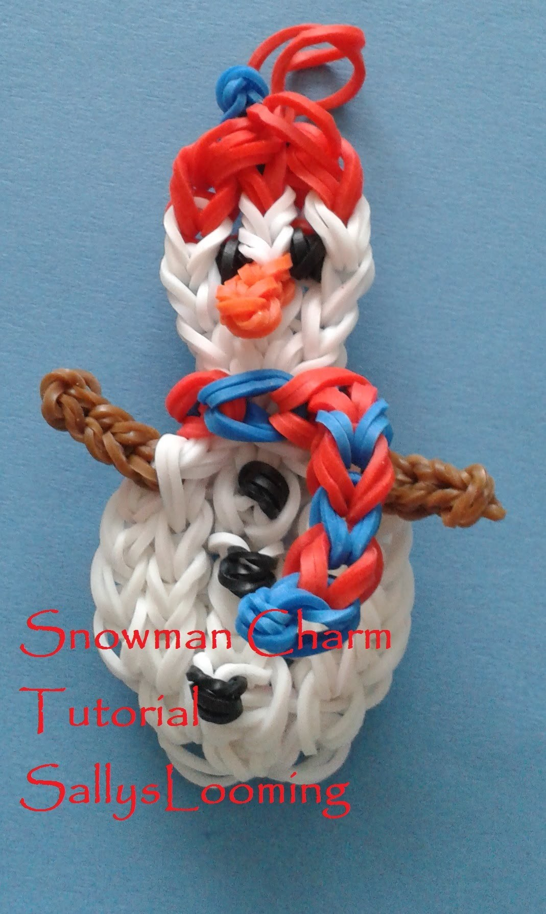 Snowman Charm Loom Band Tutorial
