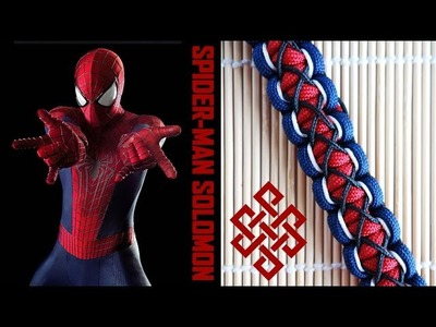 Spider-Man Themed Stitched Solomon Paracord Bracelet Tutorial