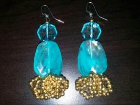 """THE GOLDEN RIVER"" EARRINGS. TUTORIAL"