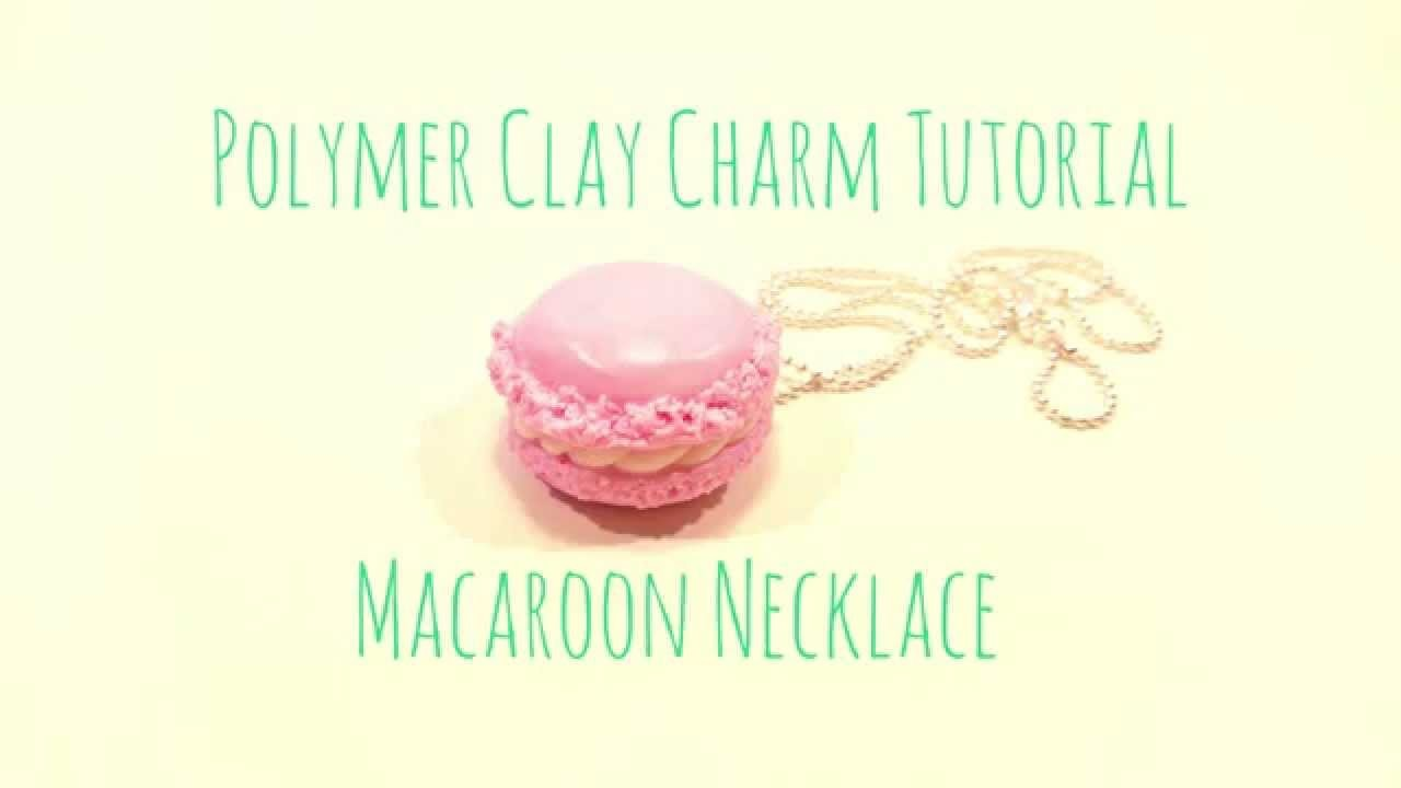 Tutorial - Polymer Clay Macaroon Charm Necklace