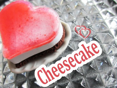 Valentine's Day Cheesecake. miniature tutorial