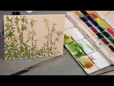 Watercolor bamboo tutorial