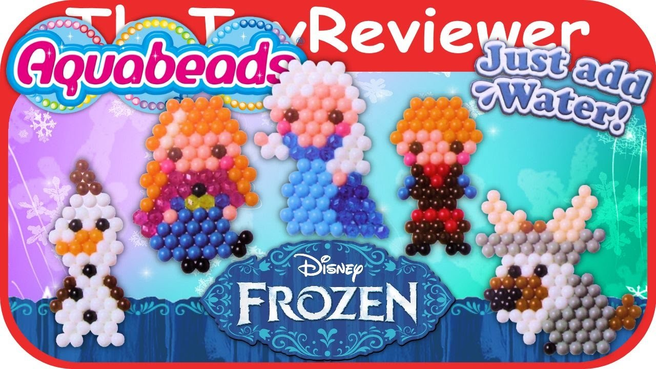AquaBeads Disney Frozen Character Playset Unboxing Tutorial by TheToyReviewer