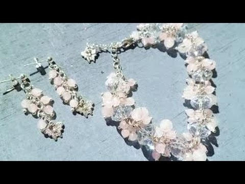 Art Jwelry Making Tutorial ||Butterfly Rose Garden Bracelet and Earring Set Part-2 || STS