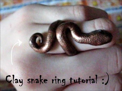 Clay snake ring tutorial