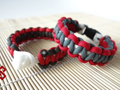 Cobra Stitch. Solomon Stitch Paracord Bracelet Tutorial