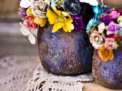 ColourArte tutorial - Altering Vases with  Iridescent Silks Acrylic Glaze