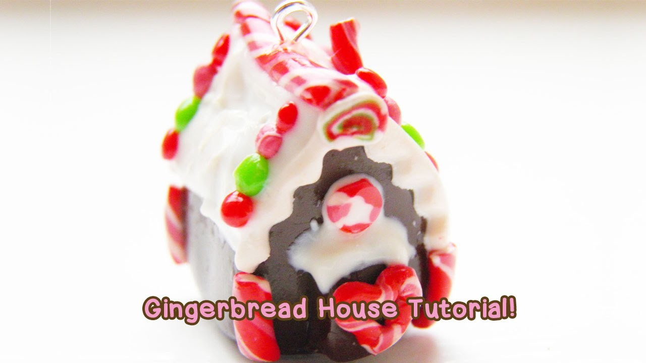 ❤ Cute Polymer Clay Gingerbread House Tutorial! ❤
