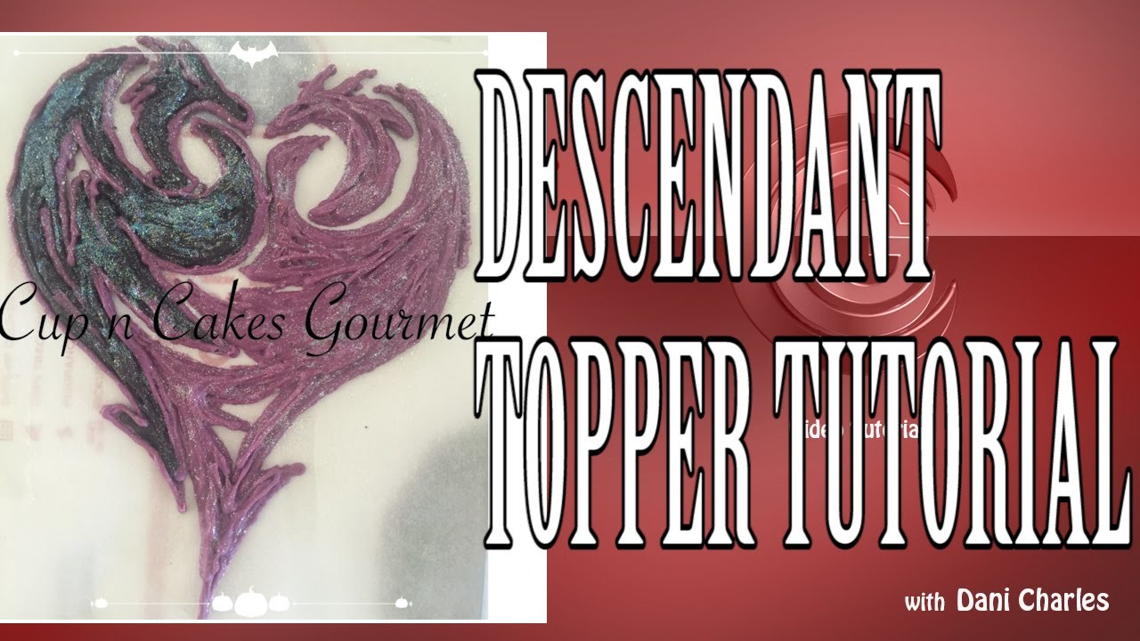Descendants (Disney Movie)  Chocolate Cake or Cupcake Topper Tutorial